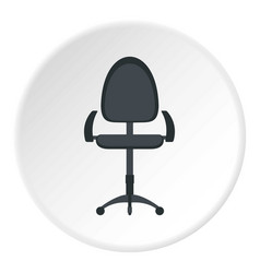 Black modern office chair icon circle vector