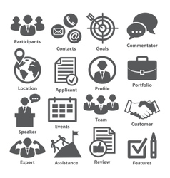 Business management icons Pack 25 vector image vector image