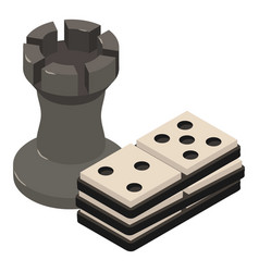 chess icon isometric 3d style vector image