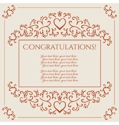 Congratulations card design vector image