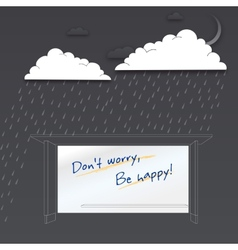 Dont worry be happy positive poster vector