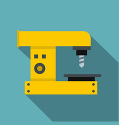 Drilling machine icon flat style vector