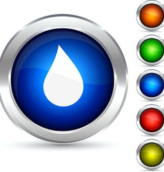 Drop button vector image