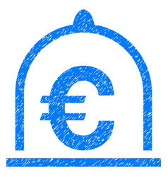 Euro standard grunge icon vector