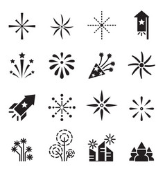 Firework icons set 2 vector