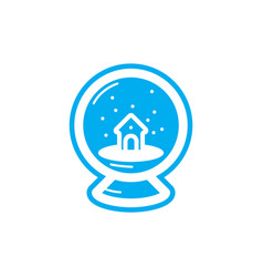 Flat color snowball icon vector