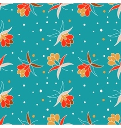 Floral ornament with berry vector image vector image