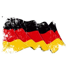 Germany National Flag Grunge vector image vector image