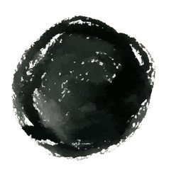 Hand drawn grunge circle ink watercolor banner vector