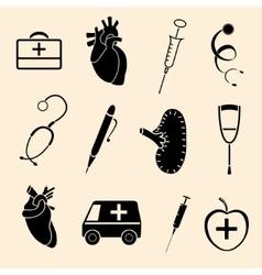 human organs icons vector image vector image