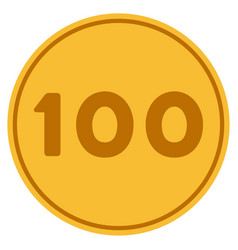 hundred gold coin vector image