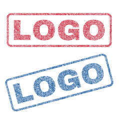 Logo textile stamps vector