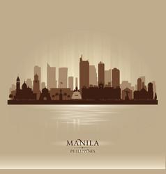 manila philippines city skyline silhouette vector image vector image