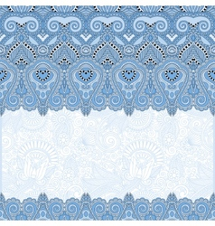 Ornamental floral folkloric blue colour background vector