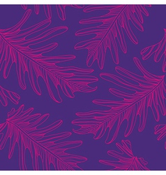 Palm trees seamless pattern background with hand vector image
