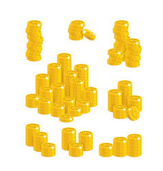 ruble coin heaps vector image