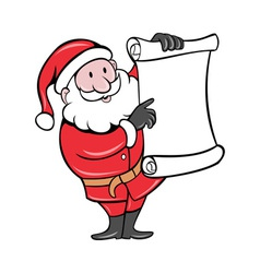 Santa claus holding scroll list vector