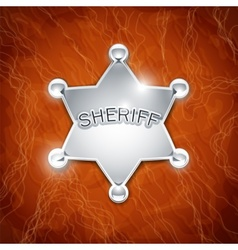 sheriffs metallic badge vector image vector image