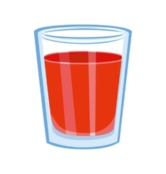 Tomato juice glass vector image