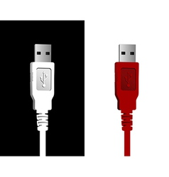 Usb wires couple vector