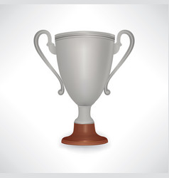 Winner cup trophy sign isolated vector