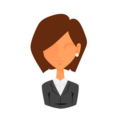 Woman portrait face icon web avatar flat style vector
