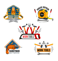 Work tool for house repair isolated symbol set vector
