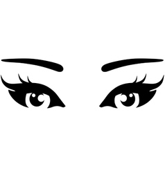 Beautiful woman eyes icon vector