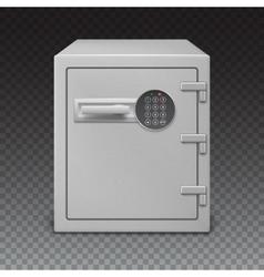 Safe with digital lock sophisticated details vector
