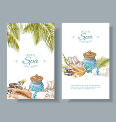 Spa treatment banners vector