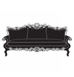 Vintage upholstered sofa vector