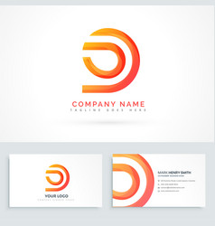 abstract shape logo design vector image