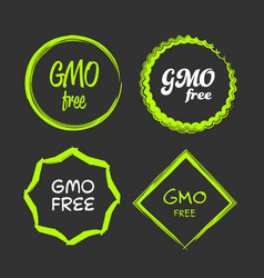 Gmo free sign vector