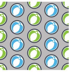 Summer seamless pattern with beach ball vector