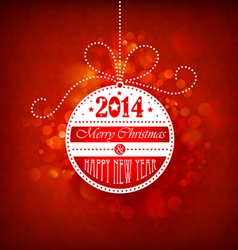 Christmas ball on a red background vector image