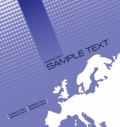 Brochure cover with europe silhouette vector