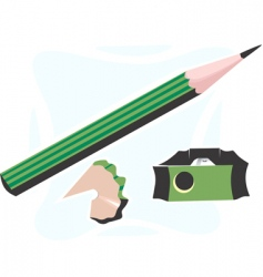 Pencil and cutter vector