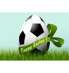 Football easter egg vector