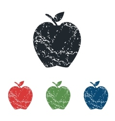 Apple grunge icon set vector