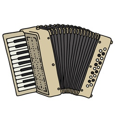 Old beige accordion vector