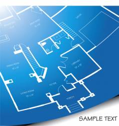 floor plan unrolling vector image