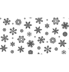 Isolated snowflakes - stock vector