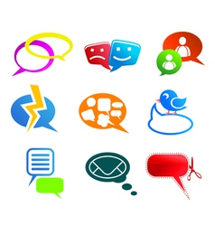Chat and communication icons vector