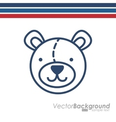 Little bear design vector