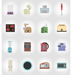 Household appliances for kitchen 17 vector