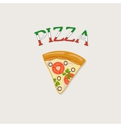 A piece of italian pizza vector