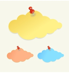Abstract paper cloud like speech bubble vector image