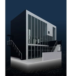 Architecture model house with blueprints vector image vector image