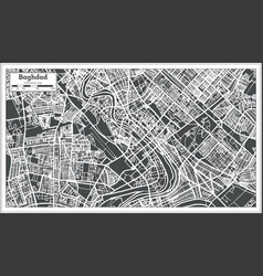 Baghdad iraq city map in retro style vector