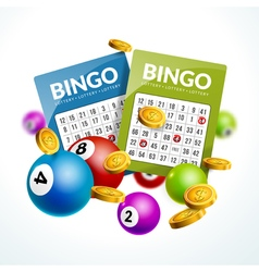 Bingo lottery balls numbers background Lottery vector image vector image